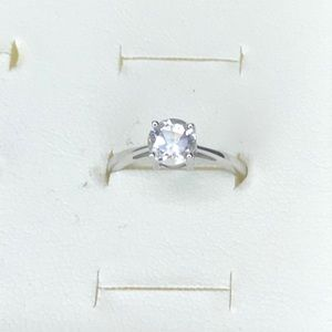 White Topaz Sterling Silver Ring, Size 6